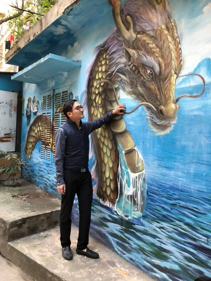 Murals change life in Hanoi's residential areas - ảnh 2