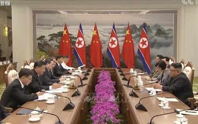 Xi, Kim agree to deepen bilateral ties for peac, stability - ảnh 1
