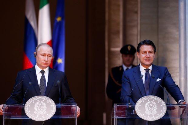 Putin says he wants Rome to help mend Moscow-EU ties - ảnh 1