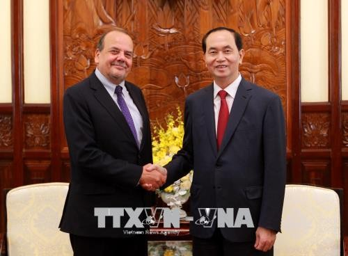 Presiden Tran Dai Quang menerima Duta Besar Cile sehubungan dengan akhir masa baktinya di Vietnam - ảnh 1