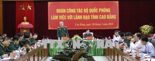 Aktif menpersiapkan acara Temu pergaulan persahabatan ke-5 Pertahanan perbatasan Vietnam – Tiongkok  - ảnh 1