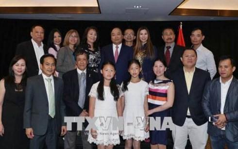 PM Viet Nam, Nguyen Xuan Phuc mengakhiri kehadiran di KTT G7 yang diperluas dan kunjungan-nya di Kanada - ảnh 3
