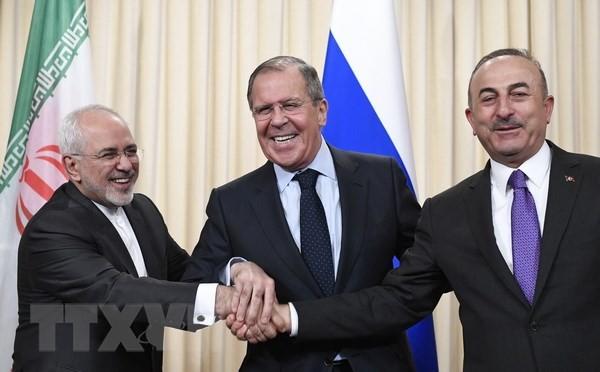 Rusia, Iran dan Turki untuk sementara sepakat tentang Komite Konstitusi Suriah - ảnh 1