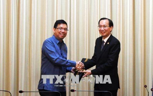Kota Ho Chi Minh dan Filipina memperhebat kerjasama dan pertukaran perdagangan - ảnh 1