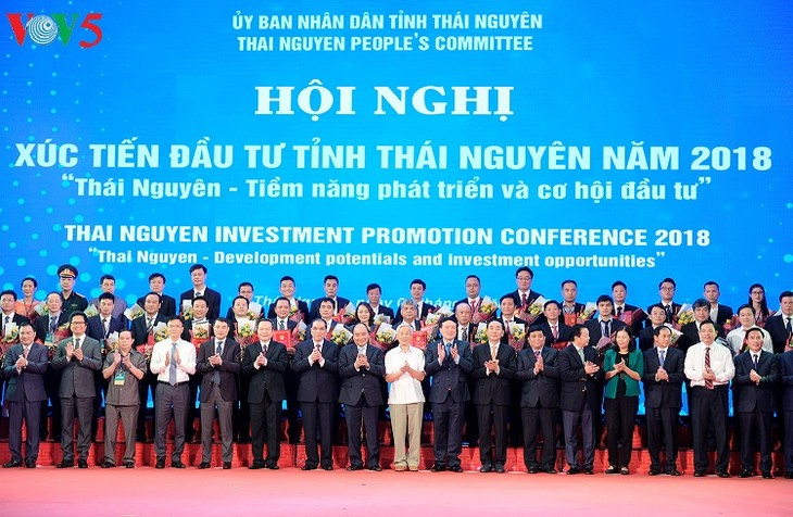 PM Vietnam, Nguyen Xuan Phuc menghadiri Konferensi Promosi Investasi di Provinsi Thai Nguyen - ảnh 1