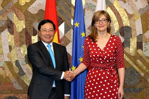 Aktivitas  Deputi PM, Menlu Vietnam, Pham Binh Minh di Bulgaria  - ảnh 2