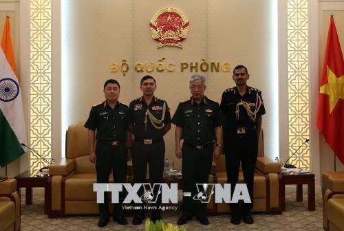 Letnan Jenderal Nguyen Chi Vinh menerima Atase Pertahanan India dan Israel - ảnh 1