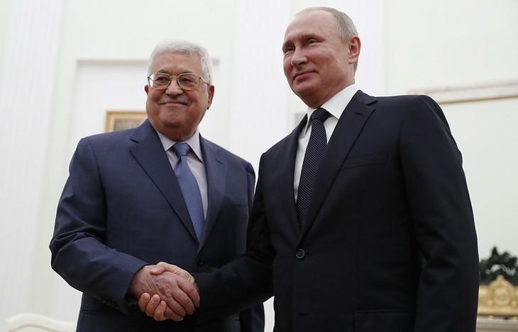 Pemimpin Rusia dan Palestina membahas situasi  Timur Tengah - ảnh 1