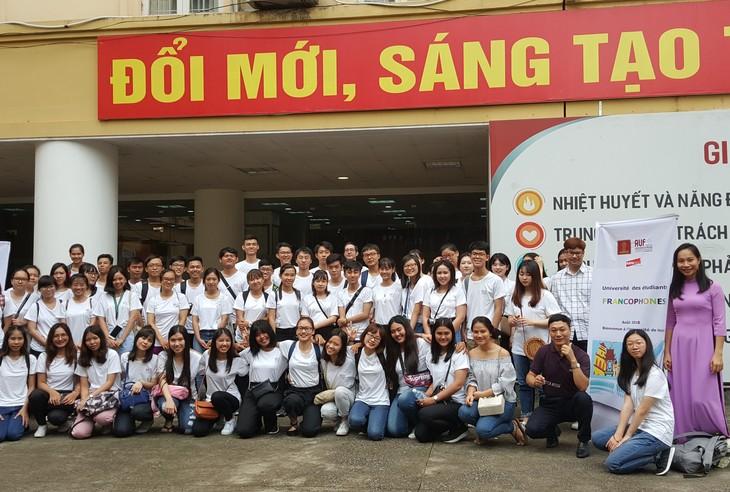 Mahasiswa Francophonie enam negara ikut serta pada sekolah musim panas di Vietnam - ảnh 1