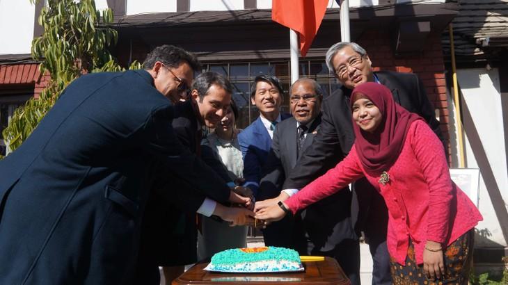 51 tahun berdirinya ASEAN: Kedutaan Besar Vietnam memimpin aktivitas peringatan di Cile - ảnh 1