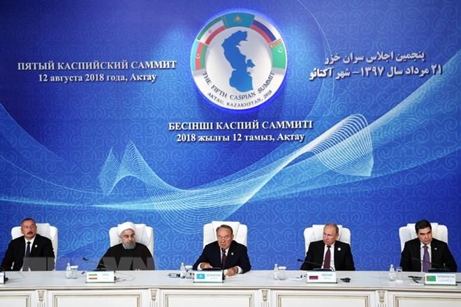 Lima negara menandatangani konvensi tentang status Laut Kaspia - ảnh 1