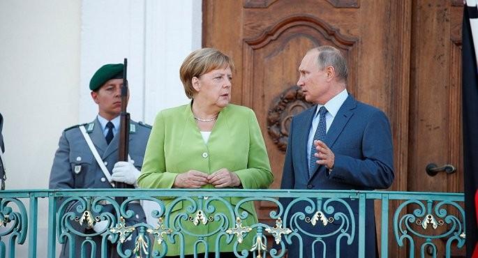 Pemimpin Rusia dan Jerman membahas serentetan masalah - ảnh 1