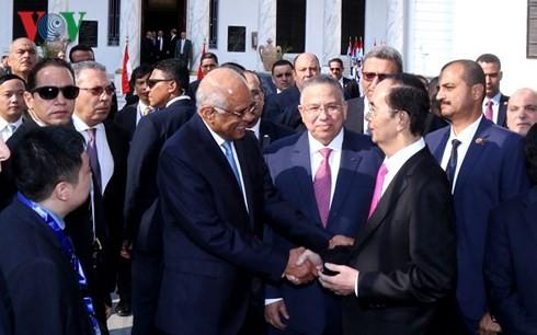 Presiden Tran Dai Quang melakukan pertemuan dengan para Pemimpin Mesir - ảnh 1