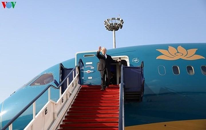 Sekjen Nguyen Phu Trong mengakhiri dengan baik kunjungan resmi di Federasi Rusia dan Hungaria - ảnh 1