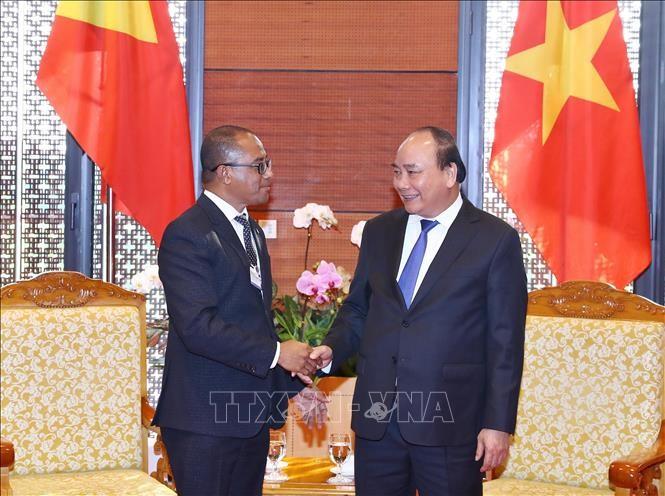 PM Vietnam, Nguyen Xuan Phuc menerima Menteri Luar Negeri dan Kerjasama Timor-Leste, Dionisio Babo Soares - ảnh 1