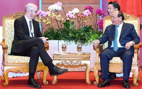 WEF ASEAN 2018: Thủ tướng Nguyễn Xuân Phúc tiếp lãnh đạo Facebook - ảnh 1
