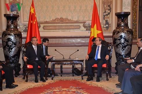 Kota Ho Chi Minh memberikan sumbangan yang positif pada hubungan kemitraan kerjasama strategis dan komprehensif antara Vietnam dan Tiongkok. - ảnh 1