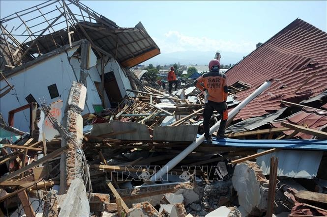 Jumlah korban yang tewas dalam musibah gempa dan tsunami di Indonesia bertambah menjadi hampir 2.000 orang - ảnh 1