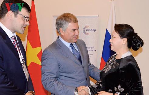 Ketua MN Nguyen Thi Kim Ngan melakukan pertemuan dengan Ketua Duma Negara Rusia - ảnh 1