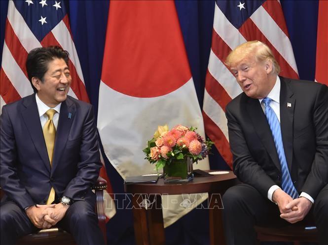 Pimpinan Jepang dan AS melakukan pembicaraan telepon tentang perhatian-perhatian bersama - ảnh 1