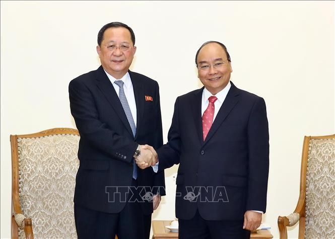 PM Vietnam, Nguyen Xuan Phuc menerima Menlu RDRK, Ri Yong Ho - ảnh 1