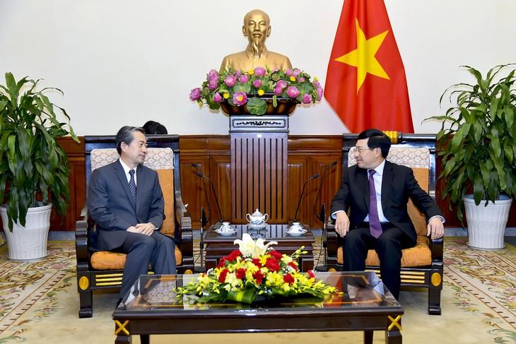 Deputi PM, Menlu Vietnam, Pham Binh Minh menerima Dubes Tiongkok di Vietnam - ảnh 1