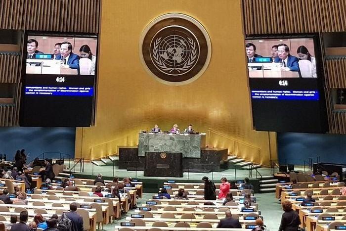 Vietnam menunjukkan prioritas di Komite Posisi Perempuan PBB untuk menuju ke kesetaraan gender - ảnh 1