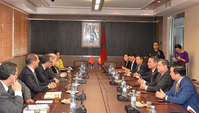 Menandatangani naskah kerjasama antara Vietndam dan Maroko - ảnh 1