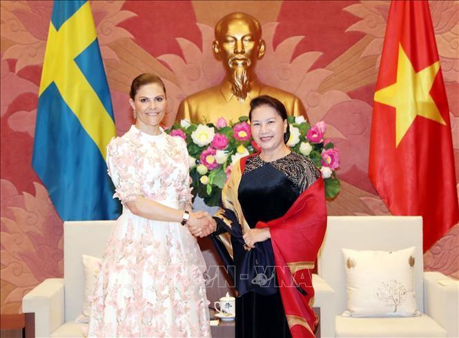 Ketua MN Vietnam, Nguyen Thi Kim Ngan menerima Putri Mahkota Swedia, Victoria Ingrid Alice Desiree  - ảnh 1