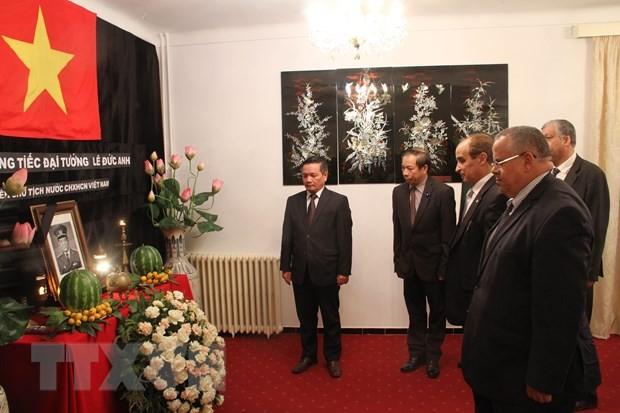 Upacara berziarah dan pembukaan buku perkabungan mantan Presiden Le Duc Anh di Aljazcir dan Arab Saudi - ảnh 1