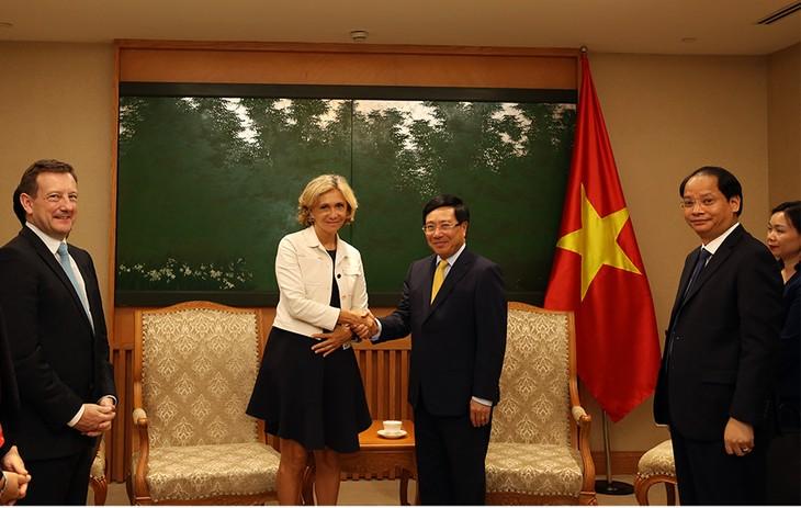 Deputi PM, Menlu Pham Binh Minh menerima Ketua Dewan Kawasan Ile-de-France - ảnh 1