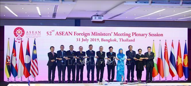 Para Menlu ASEAN menekankan masalah Lat Timur pada konferensi dengan Tiongkok - ảnh 1