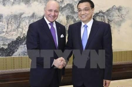 China und Frankreich wollen Zusammenarbeit in vielen Bereichen verstärken - ảnh 1
