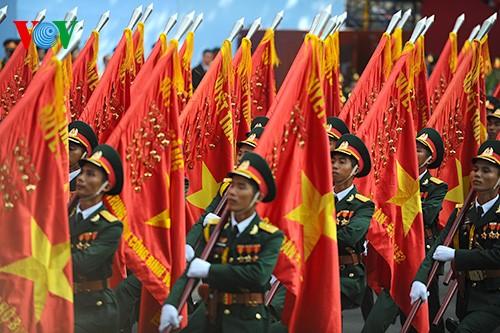 Parade zum 40. Jahrestag der Vereinigung des Landes - ảnh 4