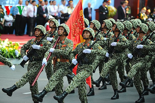 Parade zum 40. Jahrestag der Vereinigung des Landes - ảnh 6
