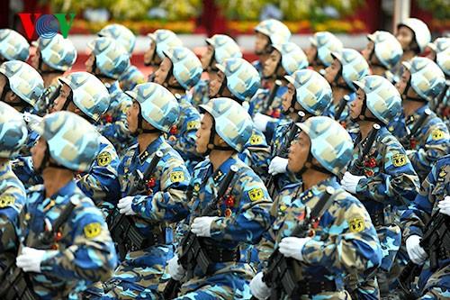 Parade zum 40. Jahrestag der Vereinigung des Landes - ảnh 8