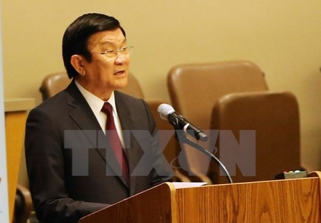 Staatspräsident Truong Tan Sang nimmt an der Konferenz über Geschlechtergleichheit teil - ảnh 1