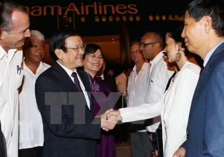 Staatspräsident Truong Tan Sang beginnt offiziellen Besuch in Kuba - ảnh 1