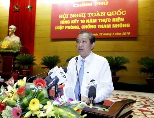 Bewertung der zehnjährigen Umsetzung des Gesetzes zur Vorbeugung und Bekämpfung der Korruption - ảnh 1