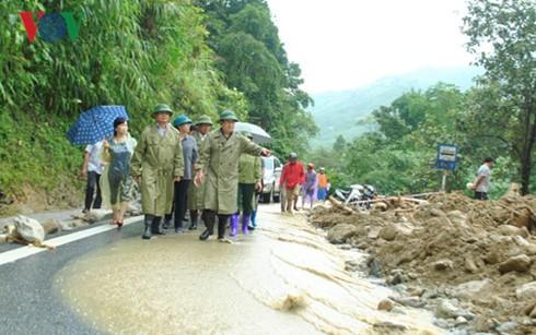 Vize-Premierminister Trinh Dinh Dung leitet die Bewältigung der Folgen der Überschwemmung in Lao Cai - ảnh 1