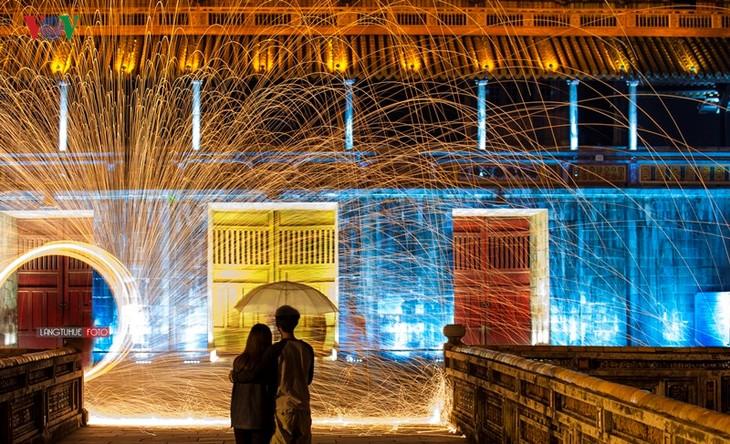 Die Schönheit der Kaiserstadt Hue in der Nacht - ảnh 7