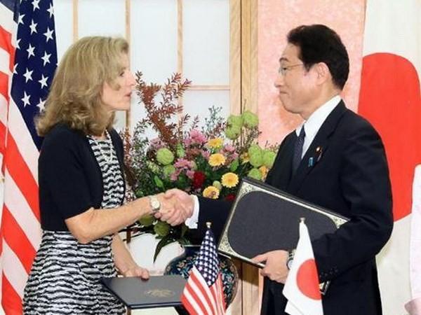 Japan und die USA unterzeichnen Vereinbarung zur verstärkten logistischen Zusammenarbeit - ảnh 1