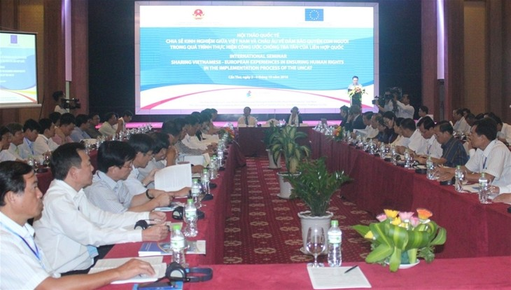 Vietnam und EU tauschen Erfahrungen beim Schutz der Menschenrechte aus - ảnh 1