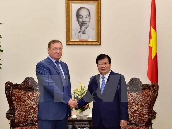 Vizepremierminister Trinh Dinh Dung trifft Generaldirektor des russischen Erdölkonzerns Zarubezhneft - ảnh 1