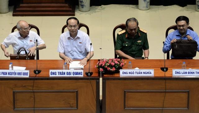 Staatspräsident Tran Dai Quang trifft Wähler von Ho Chi Minh Stadt - ảnh 1