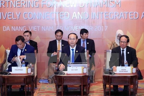 Staatspräsident Tran Dai Quang leitet den inoffiziellen Dialog zwischen APEC-ASEAN - ảnh 1