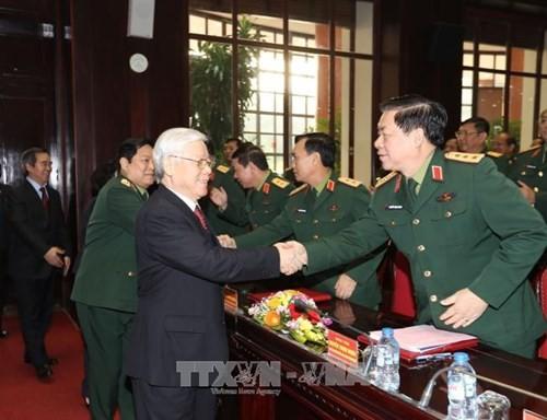KPV-Generalsekretär: Aufbau einer Armee, die politisch stark und dem Vaterland absolut treu ist - ảnh 1