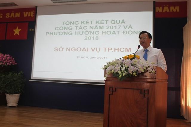 Diplomatiebranche von Ho Chi Minh Stadt markiert positive Zeichen im Jahr 2017 - ảnh 1