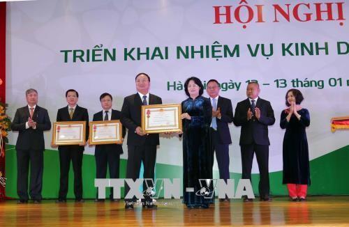 Vize-Staatspräsidentin Dang Thi Ngoc Thinh nimmt an Konferenz der Vietcombank teil - ảnh 1