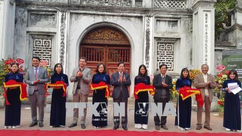 Inbetriebnahme des elektronischen Tour-Guides mit acht Sprachen im Literaturtempel in Hanoi  - ảnh 1